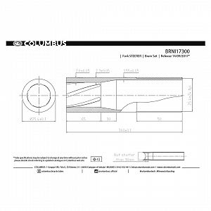 Columbus Fork steerer 25.4 x 300mm