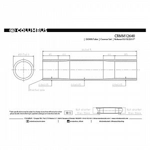 Cromor Down Tube 31.7 x 9/6/9 x 640mm